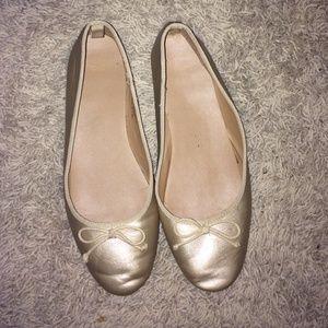 Gap women's gold ballet flats size 10